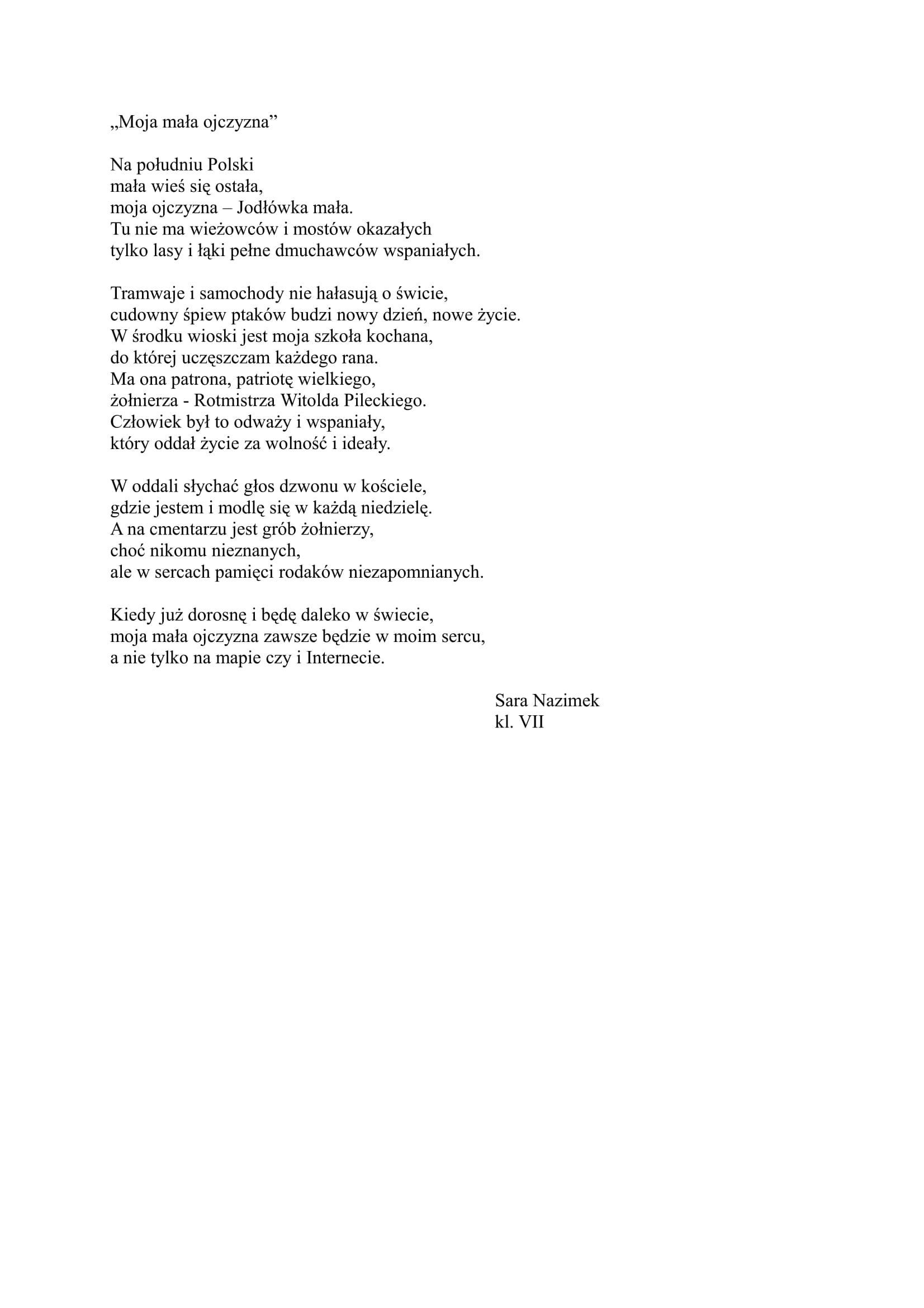 Moja mała ojczyzna - Sara Nazimek-1