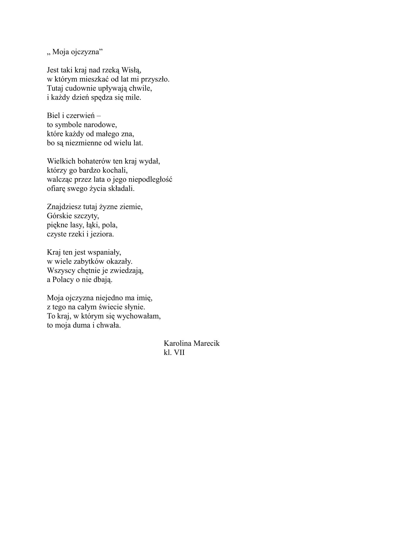 Moja ojczyzna - Karolina Marecik-1