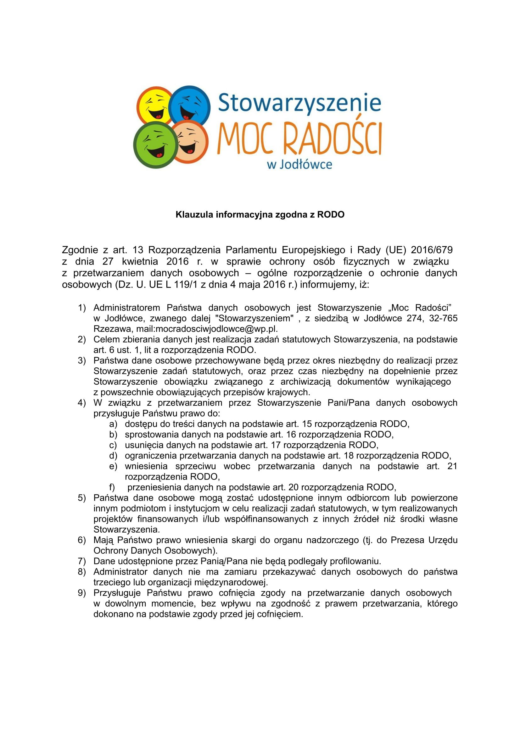 Klauzula informacyjna zgodna z RODO ogólna-1